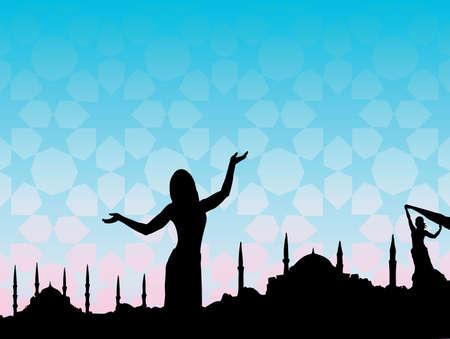 buikdansen: Istanbul Stock Illustratie