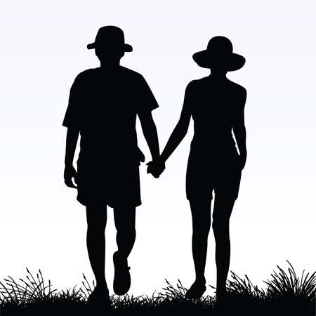 couples outdoors: couple in love
