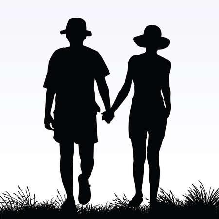 couple in love Vector