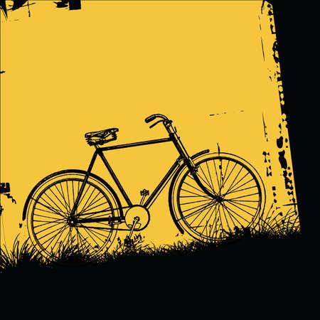 riding bike: bicicletta  Vettoriali