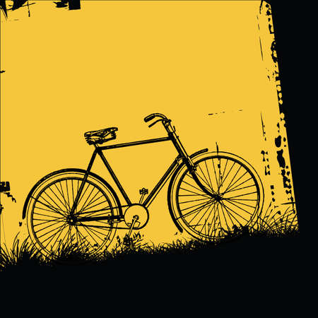 cyclist silhouette: bicycle Illustration