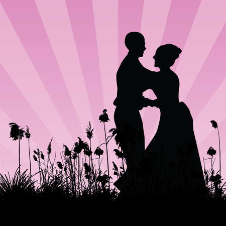 dancing couple Stock Vector - 6180043