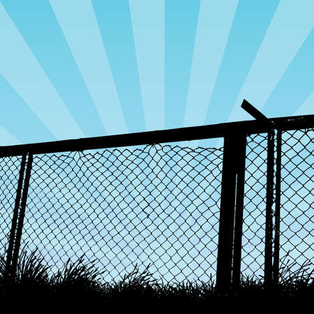 wire fence Stock Vector - 6180152