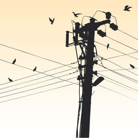 torres el�ctricas: pil�n de electricidad
