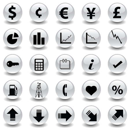 vector collection of finance icons Vector