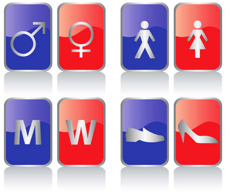 genders: vector collection of restroom signs