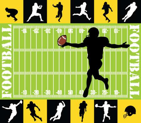 football silhouettes Illustration