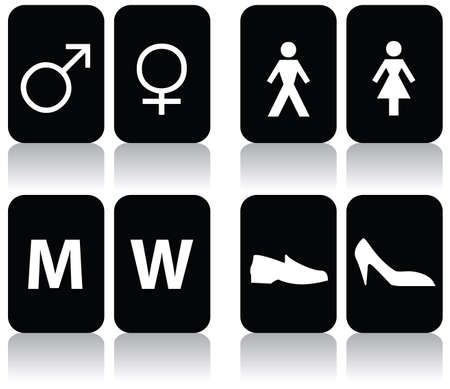 man and women wc sign: vector collection of restroom signs