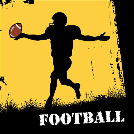 touchdown: football player Illustration