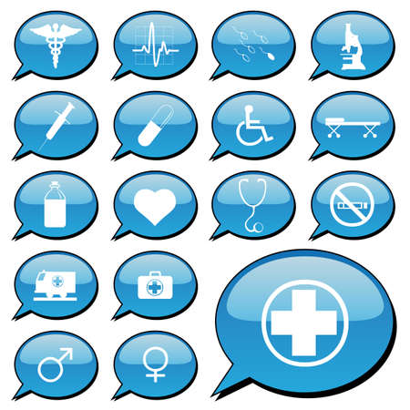 bubble acid: vector collection of medical icons Illustration