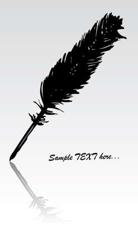 vector black feather Vector