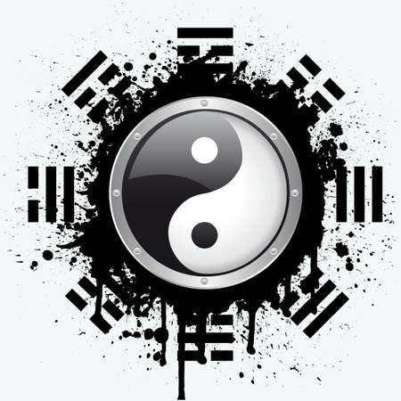 good karma: yin yang Illustration