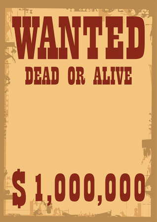 vector wanted poster Stock Vector - 6180134