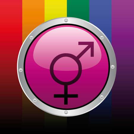 ベクトル ゲイのアイコン  イラスト・ベクター素材