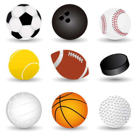 vector sport balls Stock Vector - 6180128