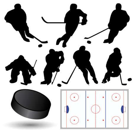 vector hockey silhouettes