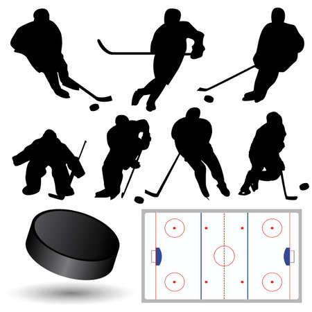 vector hockey silhouettes Stock Vector - 6180115