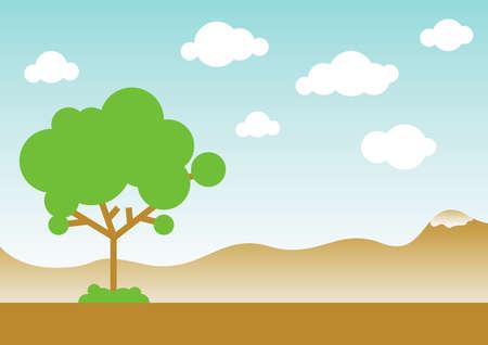garden path: vector landscape Illustration