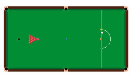 snooker table: vector snooker table