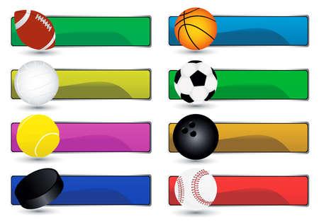 winter sport: vector sport banners
