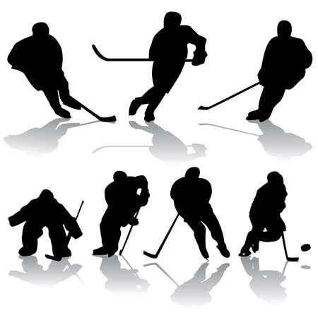 vector hockey silhouettes Stock Vector - 6180109