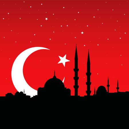 イスタンブールのシルエットをベクターします。