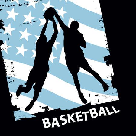 vector basketball players Stock Vector - 6180132