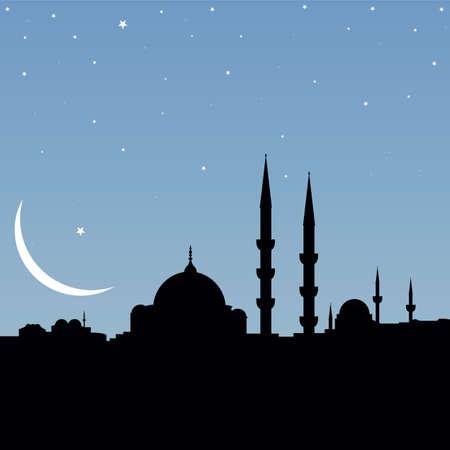 ottoman: vector mosque