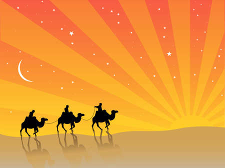 wise men: three wise men Illustration