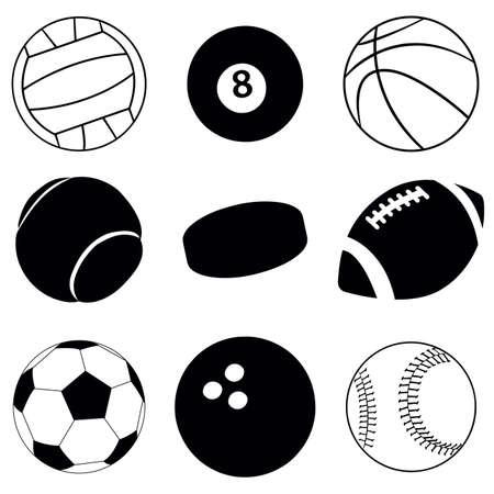 vector sport balls Vector