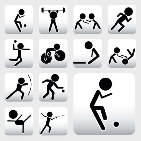 vector collection of sport icons Stock Vector - 6180079