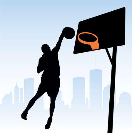 ベクトルのバスケット ボール選手 写真素材 - 6180154