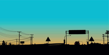 viaduct: vector road background Illustration