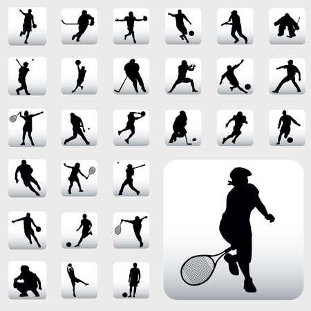 スポーツのシルエット