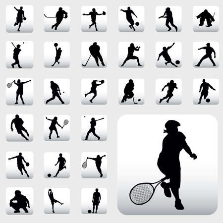sport silhouettes Stock Vector - 6198042