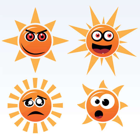 suns: vector suns Illustration