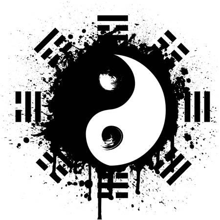 yin yang Иллюстрация