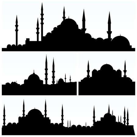 arabesque city silhouettes Illustration