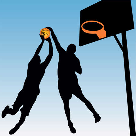 sports league: vector basketball players Illustration