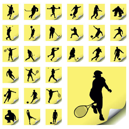 vector collection of sport silhouettes Stock Vector - 6198055