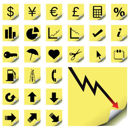 vector collection of finance icons