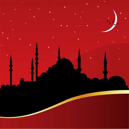 ottoman: mosque Illustration