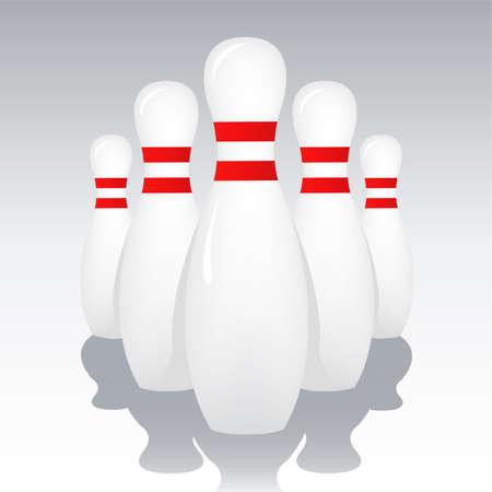bowling pins Stock Vector - 6198043