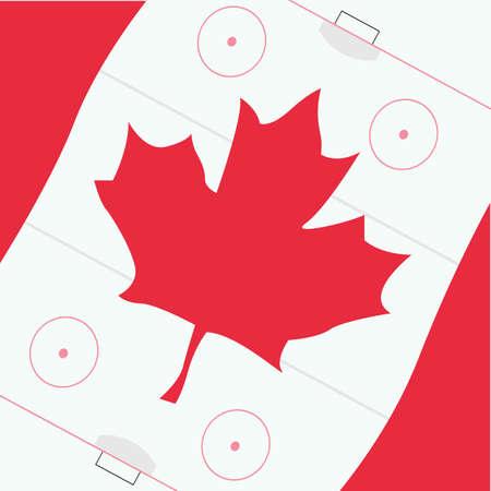 カナダの旗をベクトルします。  イラスト・ベクター素材