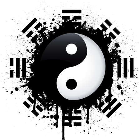 yin yang: yin yang Illustration