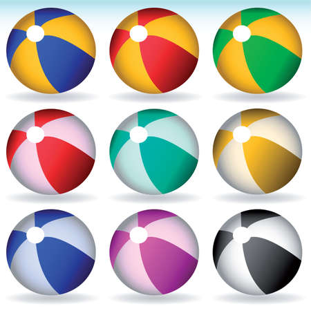 vector beach balls Stock Vector - 6198070