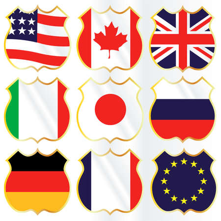 g8 flags Vector