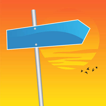vector direction sign Stock Vector - 6233116