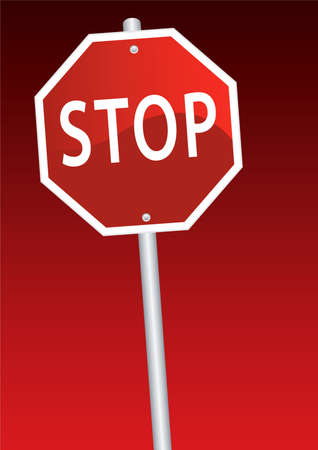 vector stop sign Stock Vector - 6233109