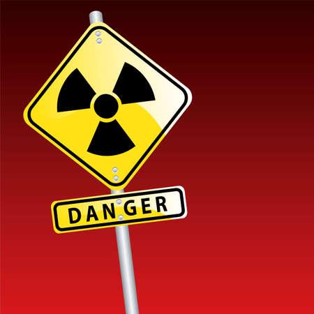 radioactive sign: signo radiactivo